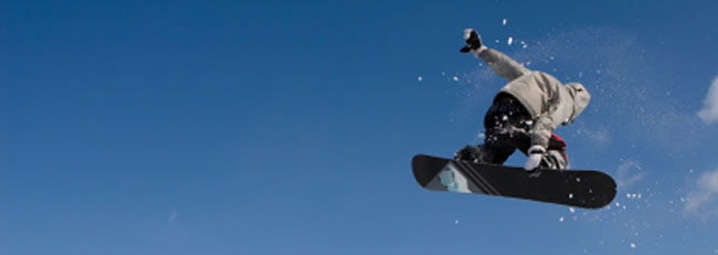 snowboarder taking air